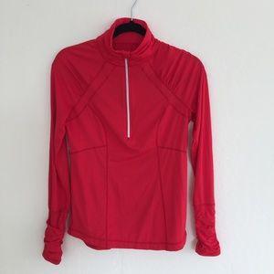 Zella Half Zip Orange Red Pullover